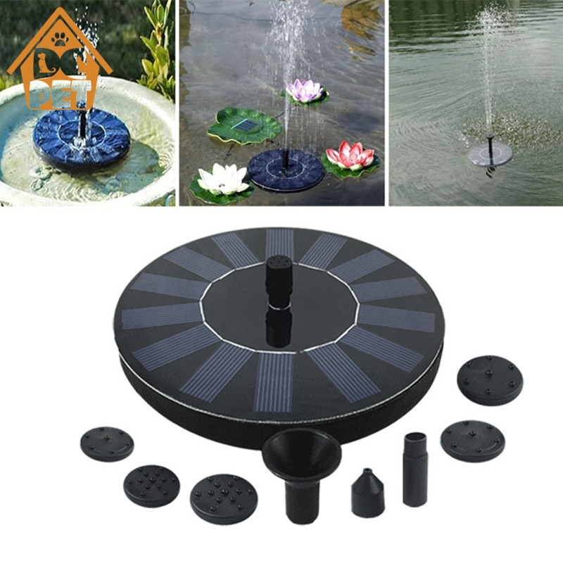 7V Solar Fountain Watering Kit Power Solar Pump Pool Pond Submersible Waterfall Floating Solar Panel Water Fountain For Garden