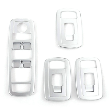 Car Door Armrest Window Glass Lift Switch Button Cover Trim Frame Accessories for Maserati Levante Ghibli Quattroporte image