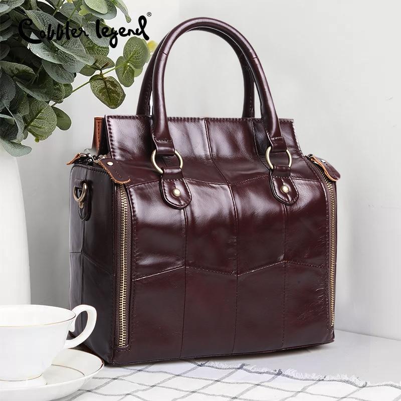 Image 2 - Cobbler Legend многофункциональная большая сумка из натуральной кожи вместительный Органайзер сумка через плечо для женщин 2019 женская сумка-in Сумки с ручками from Багаж и сумки
