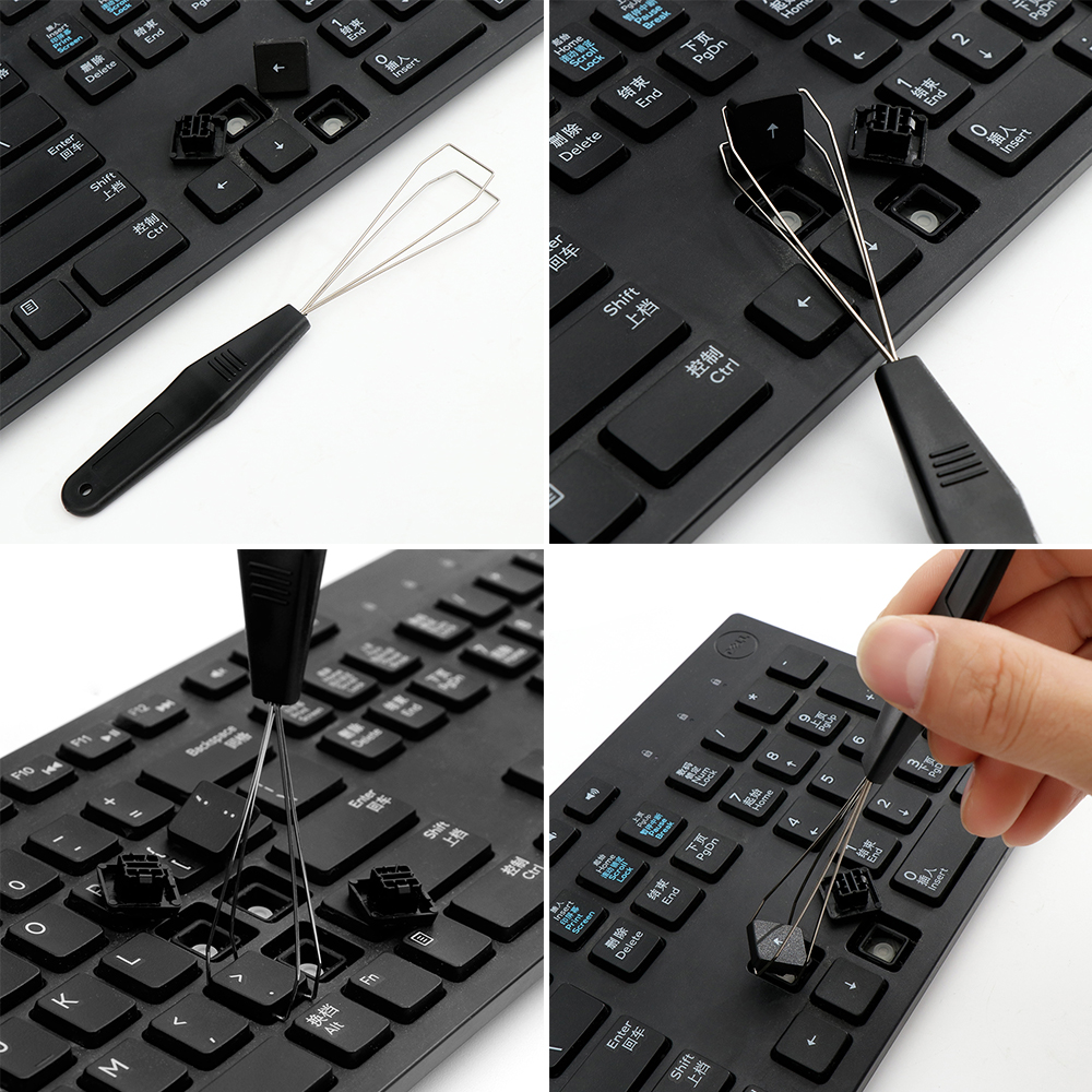 1PC Useful Keyboard Key Keycap Puller Remover With Unloading Steel Cleaning Tool Keycap Starter Keyboard Dust Cleaner Aid 3