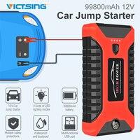 VicTsing 99800mAh Car Starter Jump Emergency Starter Power Bank 12V Large Battery Fast Charger LED Torch Light Moto Car Starter|Starters| |  -