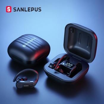 SANLEPUS B1 wyświetlacz Led słuchawki Bluetooth słuchawki bezprzewodowe TWS Stereo słuchawki douszne wodoodporny zestaw słuchawkowy z mikrofonem z redukcją szumów tanie i dobre opinie Technologia hybrydowa wireless Zaczep na ucho 120±5dBdB Nonem Do Gier Wideo Wspólna Słuchawkowe Dla Telefonu komórkowego