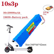 36V 20Ah 18650 Rechargeable lithium Battery pack 10S3P 500W High power for Modified Bikes Scooter Electric Vehicle,With BMS XT30