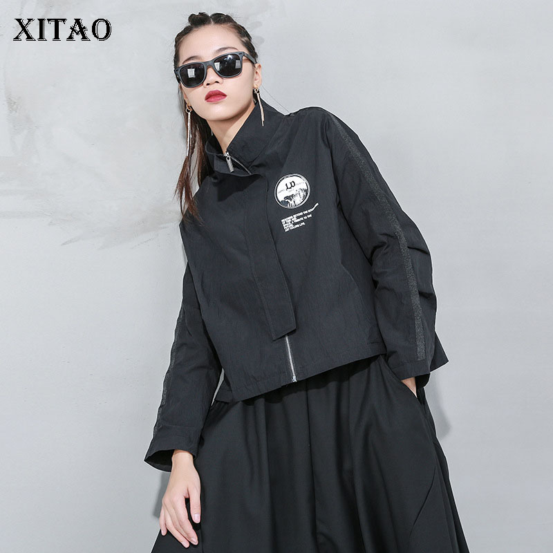 XITAO 2020 Spring New Women Tops Trend Printed Coats and Jackets Women Fashion Loose Plus Size Streetwear Women Clothes DMY4269