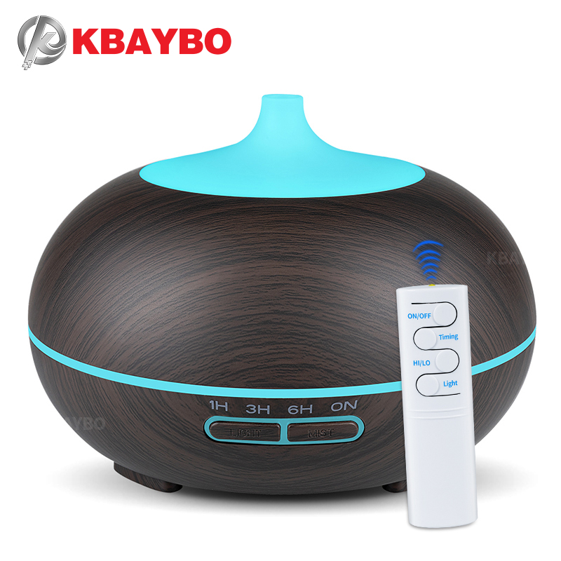 Aroma Diffuser For Home 300ml Air Humidifier With LED Lights Essential Oils Mist Maker Wood Grain Ultrasonic Diffuser Freshener