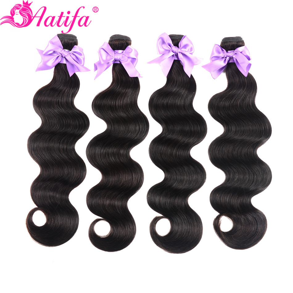 Peruvian Body Wave Hair Bundles 100% Human Hair 10-28 Inch Hair Extension 1/3/4 PCS Hair Weave Natural Color Remy Hair Aatifa