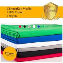 NeoBack Chromakey Muslin Ảnh Nền Chụp Ảnh Phông Nền Phòng Thu Video Cotton Vải Poly Xanh Màn Hình Màu Chân Dung