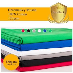 Image 1 - NeoBack Chromakey Muslin Ảnh Nền Chụp Ảnh Phông Nền Phòng Thu Video Cotton Vải Poly Xanh Màn Hình Màu Chân Dung