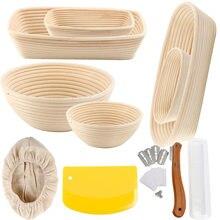 Moule à pain en rotin rond et ovale, moule à pain, à levain, à Banneton, pour la cuisson du pain fermenté, grattoir à Lame
