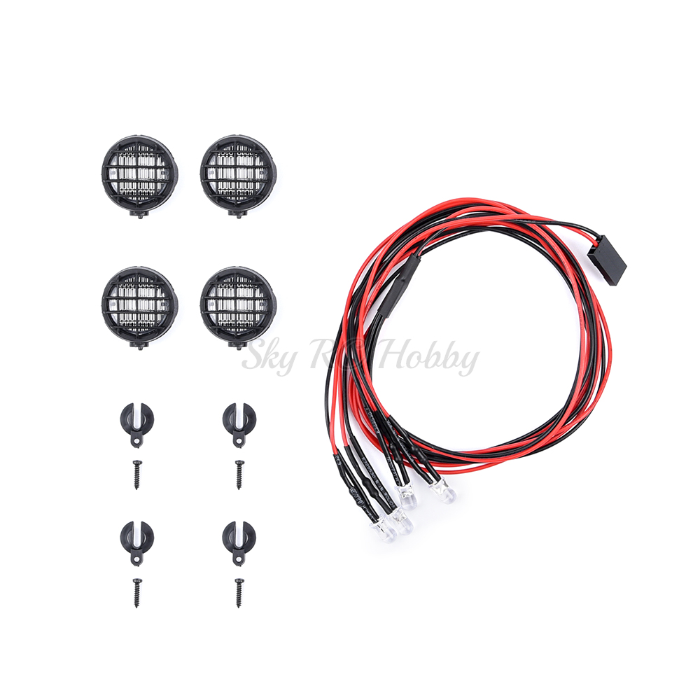4 Led White Light with Lampshade for 1/10 1:10 Traxxas Hsp Rc Crawler Accessory RC Car Parts