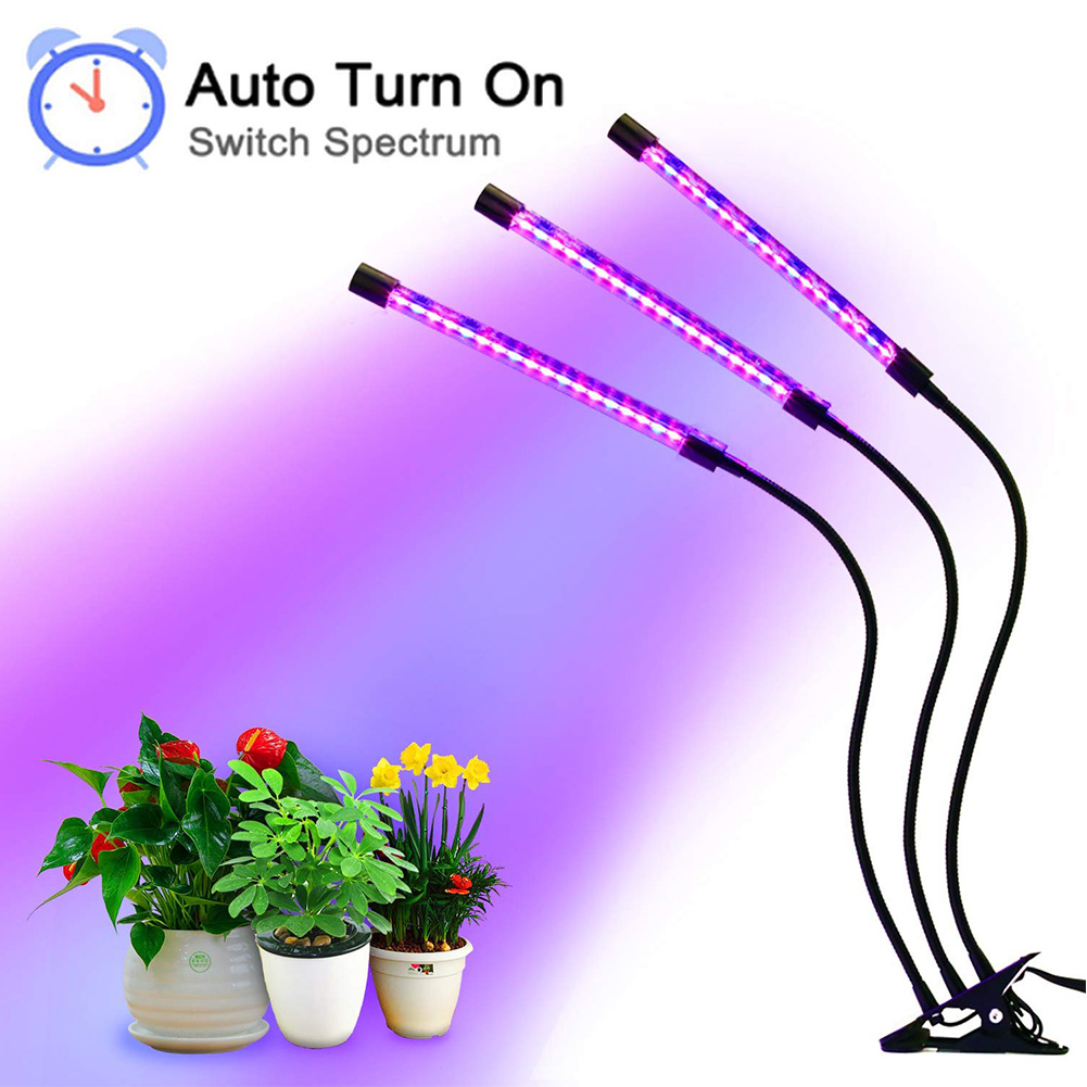 High Illumination UV Plant Growth Light Lamp Full Color Timer Lamp Flexible Growth Lighting For Indoor Plants Night Professional