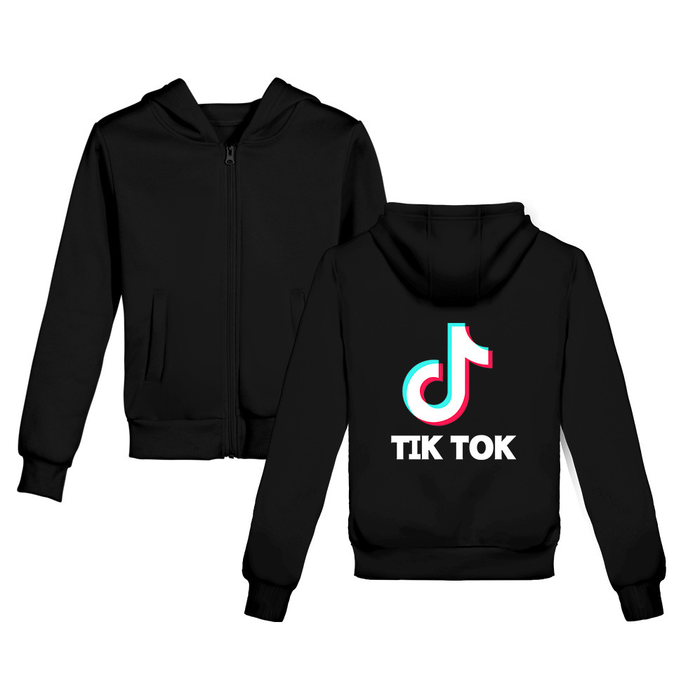 2019 Hot Sales Douyin Characters Tiktok Related Products Printed Teenager Clothing Zipper Hoodie