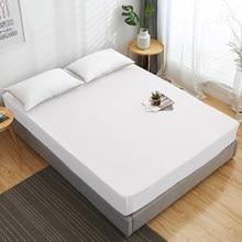 Drap-housse de matelas 100% coton, couleur unie, avec bande élastique, drap de lit Double, Queen Size, 160x200