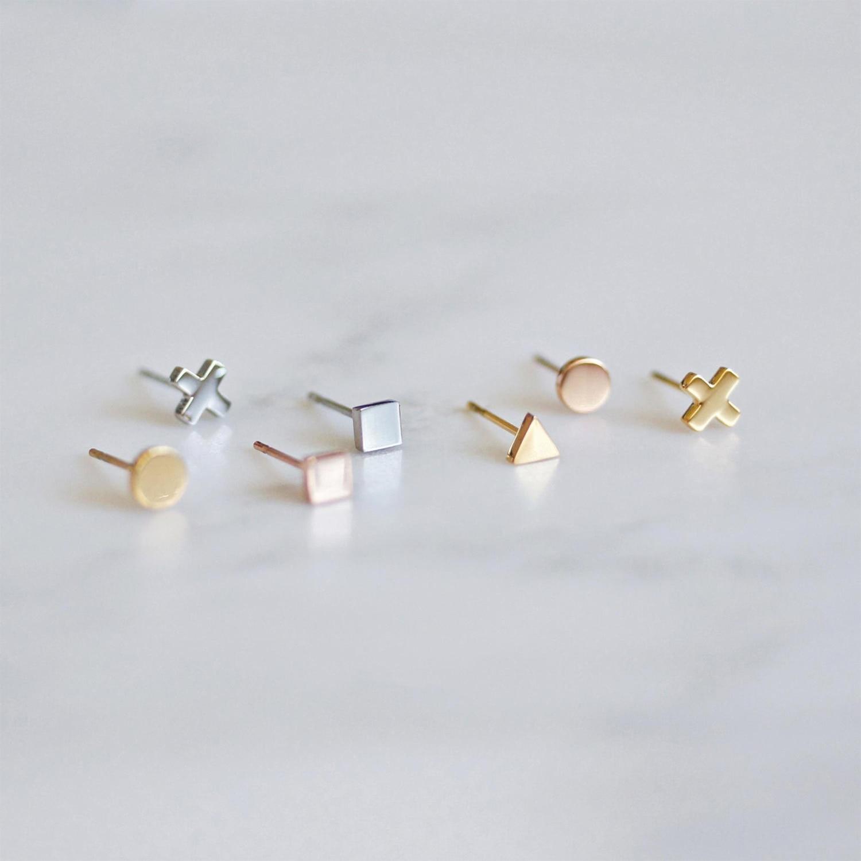 Оригинальные 7 колец минималистский модный дизайн милые геометрические серьги из нержавеющей стали для женщин девушки ювелирные изделия а...