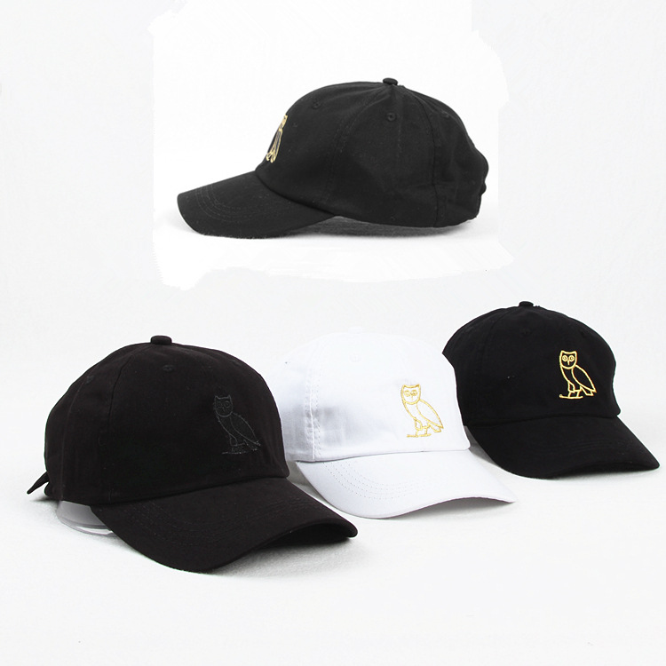 Foreign Trade Hot Selling Drake OVO Hip Hop Hat Europe And America Popular Drake Cat Baseball Cap Owl Soft Top Hat Fashion