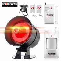 Fuers DIY Drahtlose 110db Laute Sicherheit Sirene Schnelle Code Strobe Sirene Alarm Sound-Alarm System Für Home Einbrecher