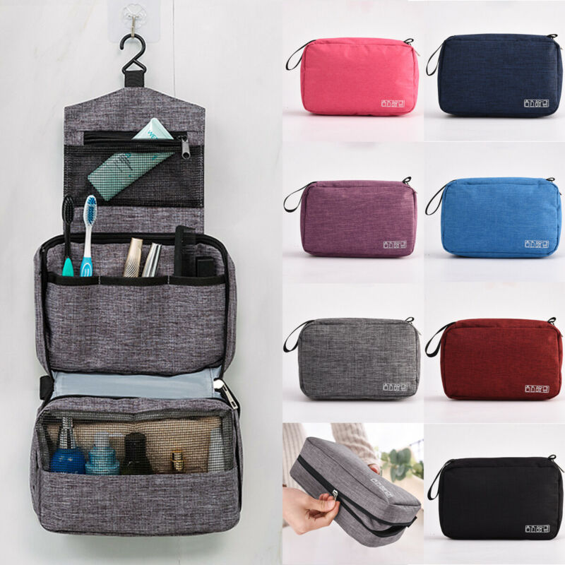 Simple Letter Travel Bag Travel Toiletries Storage Bag  Folding Hanging Toiletry Wash Organizer Pouch