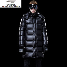 Men #8217 s Down Jacket Long Winter Coat Thick Warm Puffer Goose Down Jacket Men Clothes 2020 Hooded Plus Size Coats KJ3225 cheap REGULAR M1801M1HL013 Casual zipper Full Pockets NONE Thick (Winter) Poplin NYLON Grey goose down 300g Solid plumas hombre invierno