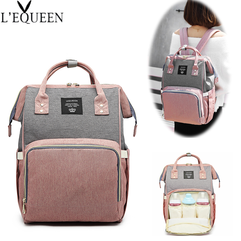 Lequeen Diaper Bags Large Nappy Baby Bag Fashion Women Travel Backpack Waterproof Maternity Bag Mummy Bags