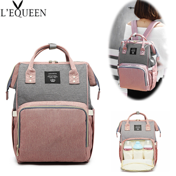 Lequeen Diaper Bags Large Nappy Baby Bag Fashion Women Travel Backpack Waterproof Maternity Mummy