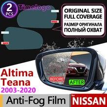 For Nissan Altima Teana J31 J32 L33 L34 2003~2020 Full Cover Anti Fog Film Rearview Mirror Accessories 2008 2014 2016 2017 2018 цена 2017