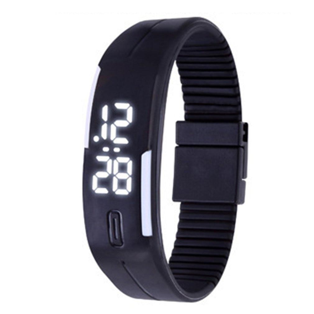 Дети часы спорт мульти функция светодиод секундомер наручные часы цифровой ребенок наручные часы возраст 4-12 мальчик девочка