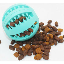 Dog Ball Chew Pet Puppy Teething Treat Clean Bite Toy Durable Training Rubber Toys