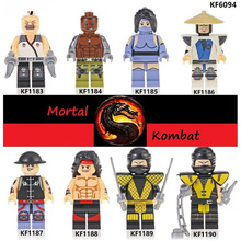 Building Blocks Bricks Mortal Kombat Baraka Jax Kitana Raiden Kung Lao Liu Kang Scorpion Action Figures Toys For Children KF6094