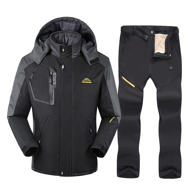 Hot Ski Equipment Ski Suit Men Winter Outdoor Windproof Waterproof Warm Snow Jacket Pants Skiing And Snowboarding Ski Jacket Men