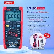 UNI T UT195E/UT195M/UT195DS промышленный водонепроницаемый мультиметр Авто Диапазон истинного напряжения переменного тока постоянного тока с LoZ ACV