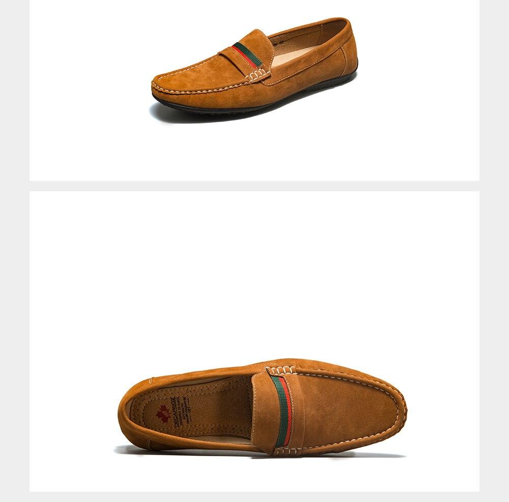 Hfff76ee5d1aa44989760a7cf667dbc20U Men Loafers shoes 2020 Autumn Fashion Moccasins Footwear Suede Slip-On Brand Men's Shoes Men Leisure Walking Men's Casual Shoes