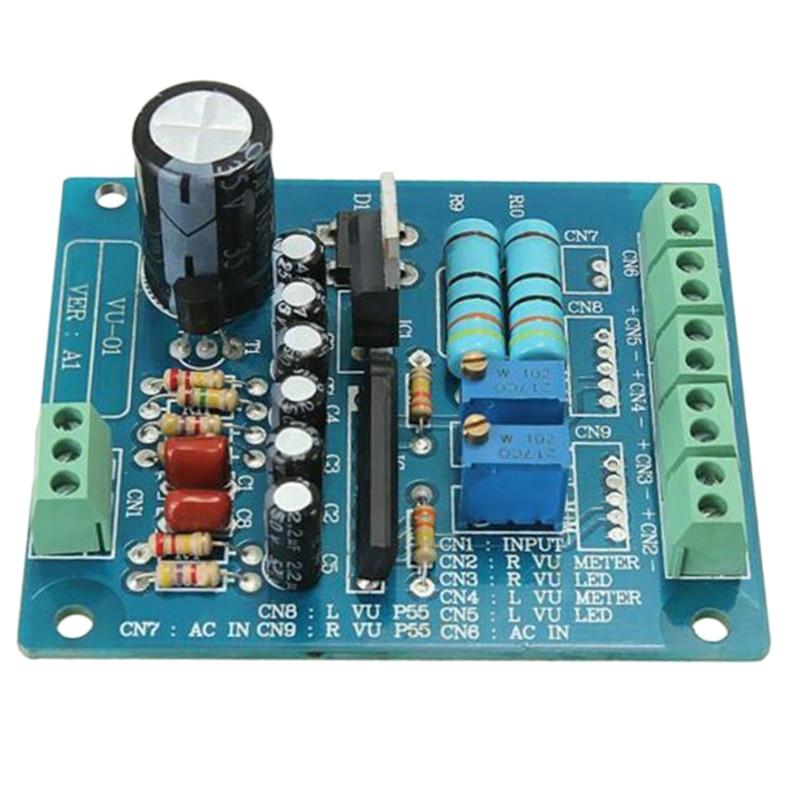 AC 12V Stereo VU Meter Driver Board Amplifier DB Audio Level Input Backlit|Operational Amplifier Chips| |  - title=