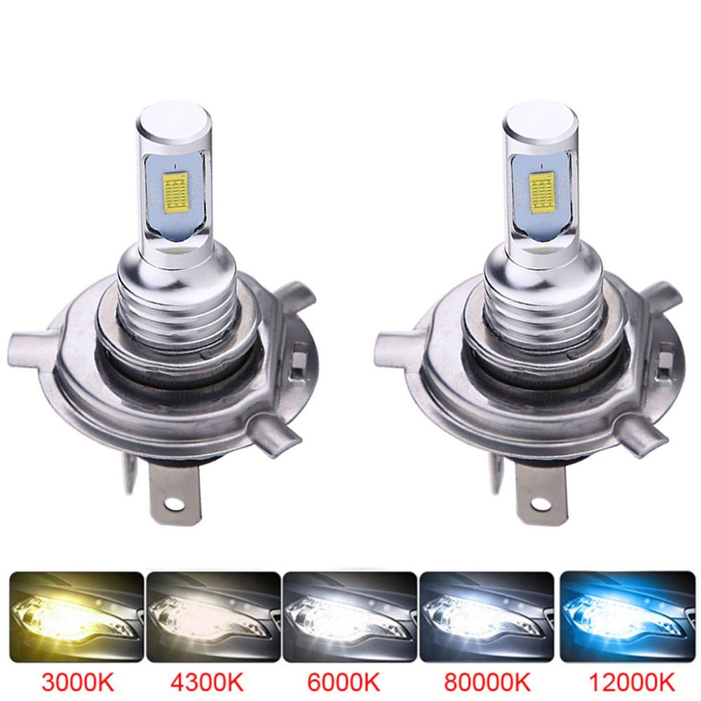 Mini Canbus H4 H7 LED Car Headlight 12V 8000LM 6000K 6000K 12000K Lamp H3 H1 HB3 H8 H9 H11 Motorcycle Fog light Bulb