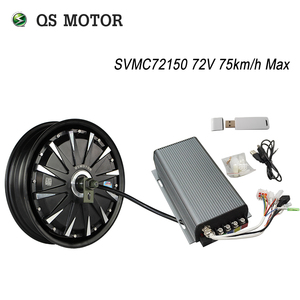 QS Motor 12inch 3000W 260 40H V1 48/60/72V 65-75km/h Brushless DC Electric Scooter Motorcycle Hub Motor Programmable Kits