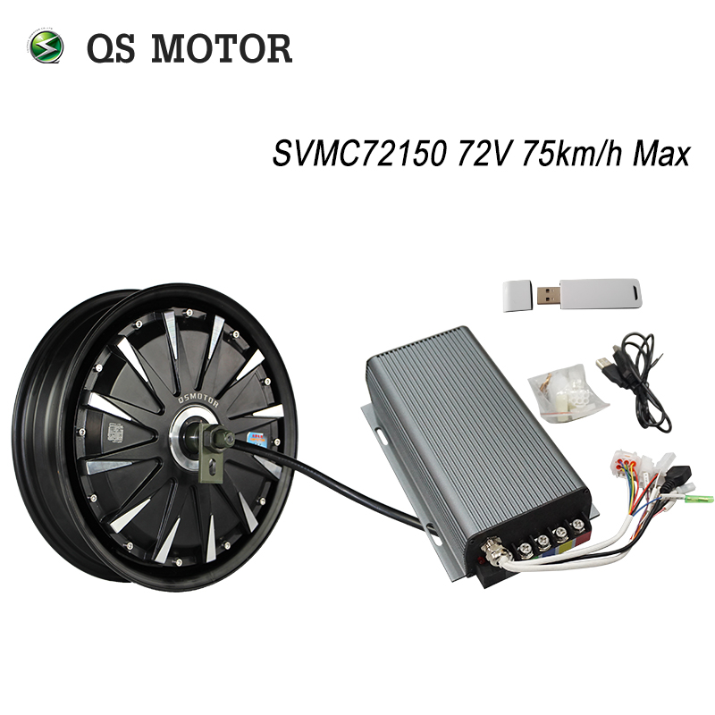 QS Motor 12inch <font><b>3000W</b></font> 260 40H V1 48/60/72V 65-75km/h Brushless DC Electric Scooter Motorcycle Hub Motor Programmable Kits image