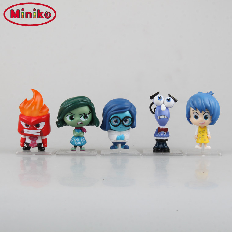 Inside Out Joy Anger Disgust Sadness Fear PVC Action Figure Model Toy Collection