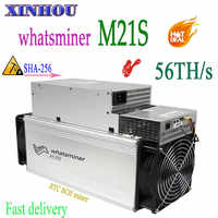 New Asic miner WhatsMiner M21S 56T With PSU BTC BCH Bitcoin Miner better than M20S M3 M3X antminer S9K S9j S9 S11 S17 S15 T17 T3