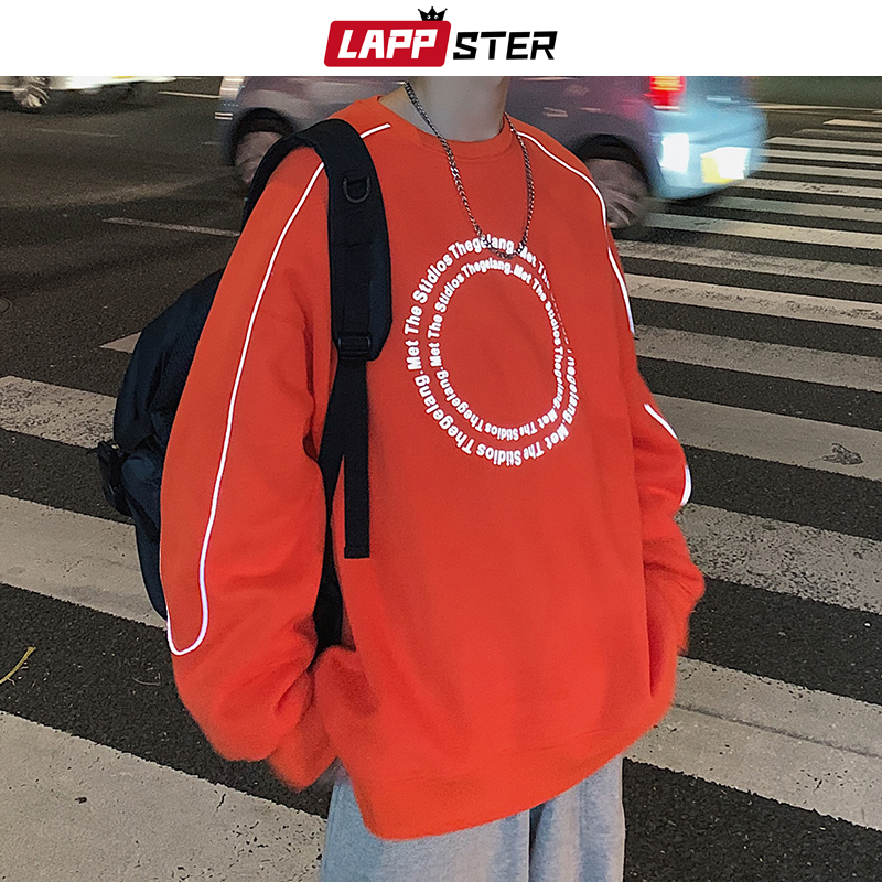 LAPPSTER Men Streetwaer Reflective Hoodies 2020 Pullover Mens Hip Hop Designer Sweatshirts Male Harajuku Korean Fashions Hoodies