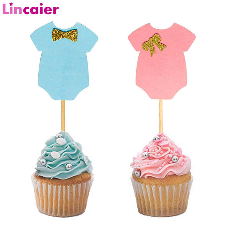12 It/'s a Girl and Baby Bottle Cupcake Picks Cake Decoration Shower Pink