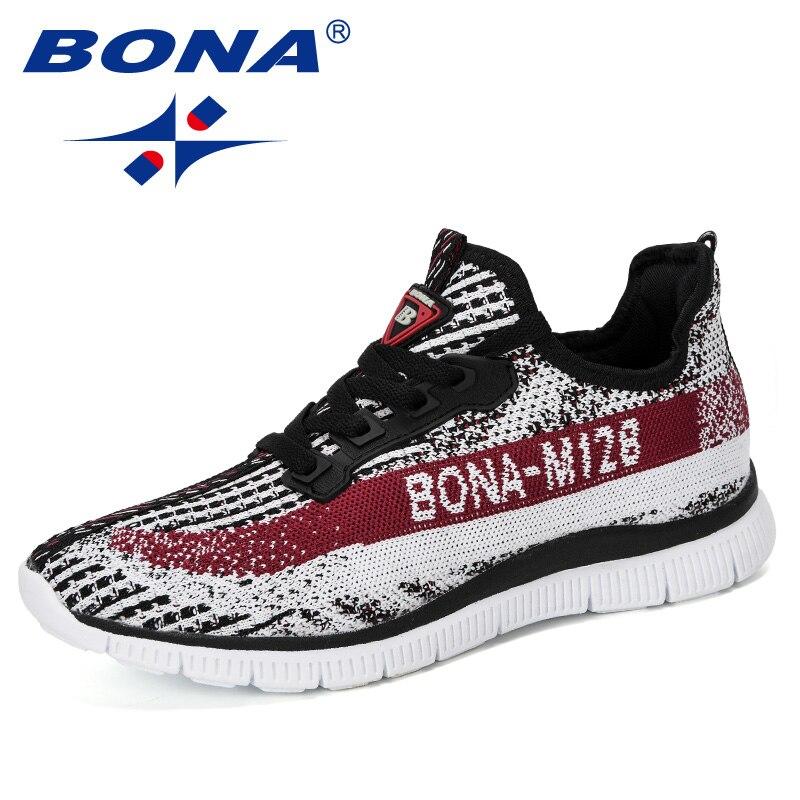 BONA 2019 New Style Sneakers Men Autumn Baskets Breathable Casual Shoes Man Sapato Masculino Krasovki Zapatos De Hombre Trendy