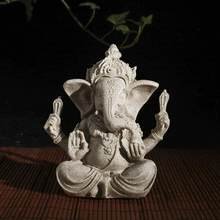 Piaskowiec Ganesha budda słoń statua rzeźba ręcznie figurka
