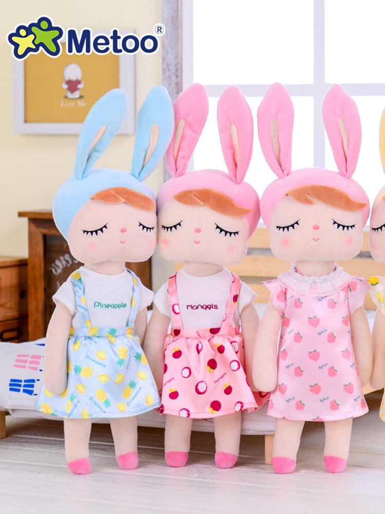 Metoo Kids Toys Angela Plush-Animals Rabbit Girls Baby Cartoon Kawaii Doll Soft for Children