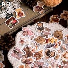 Journamm 46pcs Cute Bear Kawaii Creative Mini Sticker Decoration Diy Ablum Diary Scrapbooking Label Sticker Stationery Supplies
