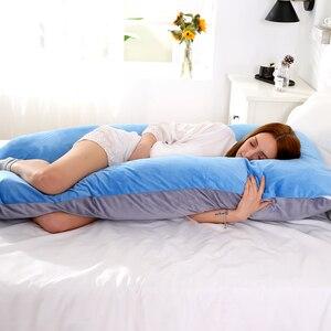 Image 4 - 116x65 سنتيمتر وسادة الحوامل للنساء الحوامل وسادة Cushions الحوامل من الحمل الأمومة دعم الرضاعة الطبيعية للنوم