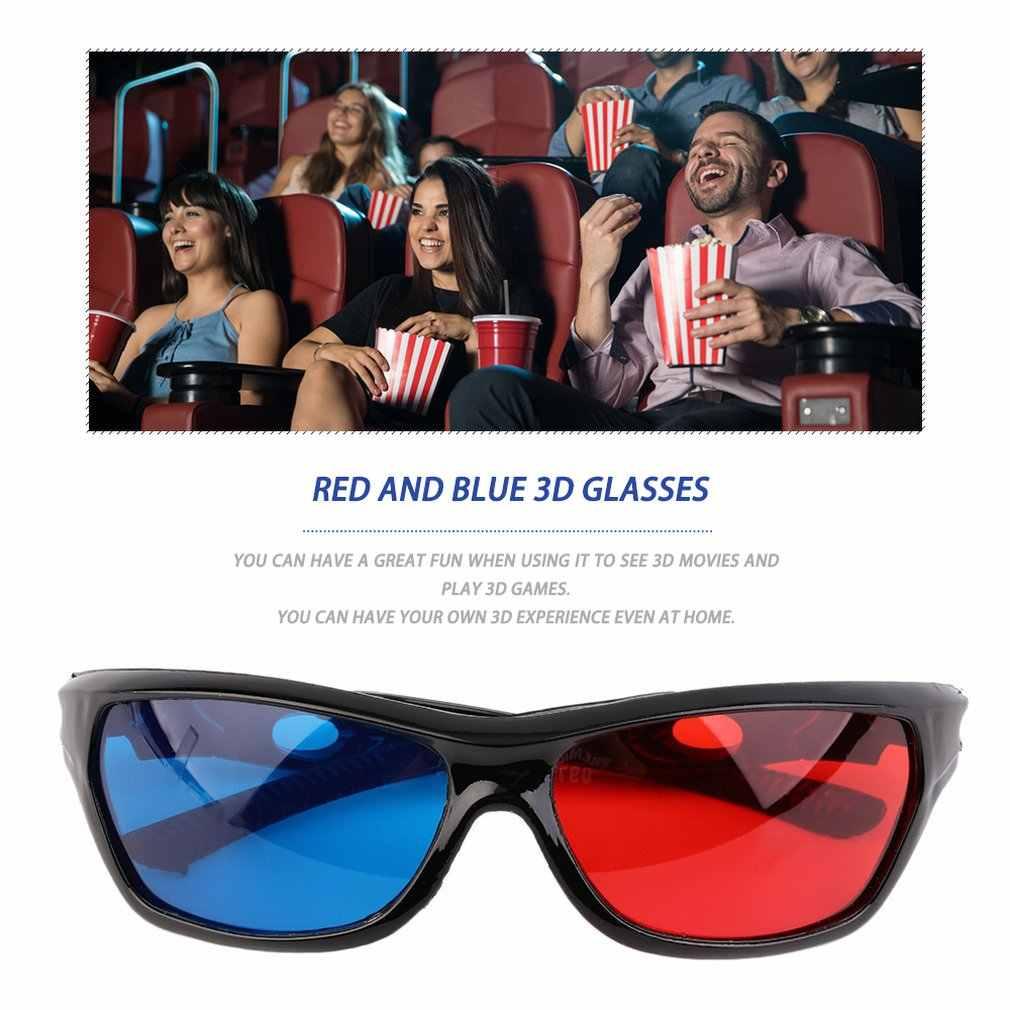 2019 nuevo Universal 3D gafas Oculos rojo azul cian 3D vidrio Anaglyph 3D película DVD juegos vision/Cine al por mayor