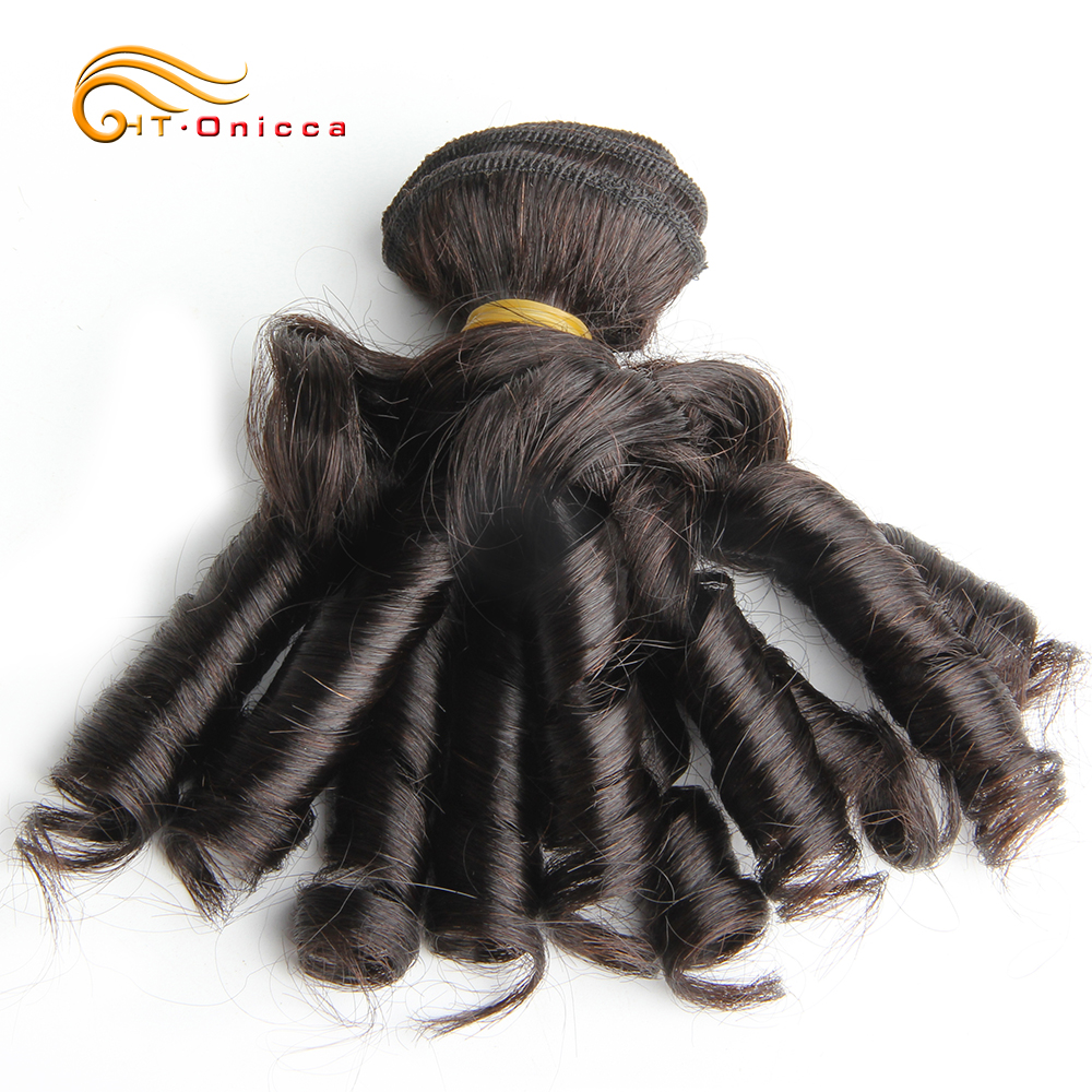 Curly Hair Bundles 6pcs 100% Human Curly Hair Double Drawn  Natural Color  Hair s 5