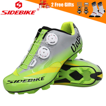 Sidebike 2018 Pro Mountain Bike Cycling Shoes Athletic Self Lock Cycle MTB Bicycle Breathable Racing Sneakers Green