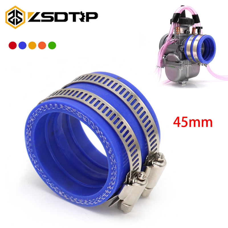 ZSDTRP For <font><b>PWK</b></font> Keihin <font><b>34mm</b></font> 36mm 38mm 40mm 42mm Motorcycle Carburetor Rubber Adapter Inlet Intake Pipe image