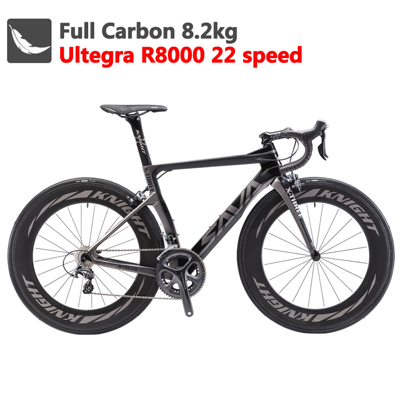 SAVA Road-Bike Carbon-Bicycle Velo-De-Route 700C Racing SHIMANO ULTEGRA R8000 with 22-Speed title=