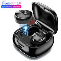 XG12 Bluetooth 5.0 TWS Earphone Stereo Wireless Earbus HIFI Sound Sport Earphones Handsfree Gaming Headset with Mic for Phone